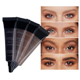 liquid silk NZ - Brands 4 Colors Eyebrow Gel 3D Silk Fiber Eyelash Mascara Long-lasting Waterproof Sweat-proof Eye Brow Makeup Dye Cream Tint Enhancer Brows