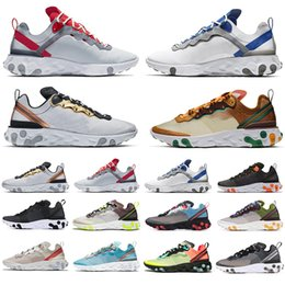 games for soccer NZ - New Style React Element 87 Volt 55 Game Royal Taped Seams Running Shoes For Women men 55s Blue Chill Trainer 87s Sail Sneakers