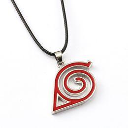 $enCountryForm.capitalKeyWord Australia - NARUTO Choker Necklace Leaves village Logo Pendant Men Women Nice Gift Anime High Quality Necklaces Jewelry Accessories
