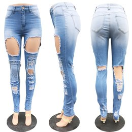 Scratch Resistant Coating Australia - Wholesale Women jeans High Strength Water washed skinny jeans Ladies fashion New Style Leisure Bottom Jeans 187-1#