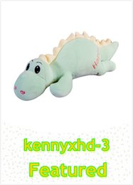 make toys cotton NZ - Creative down cotton dinosaur pillow cute saber tooth dragon plush toy doll girl
