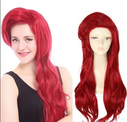 Discount dark green wig wavy Details about The Little Mermaid Ariel Cosplay Wig Princess Long Dark Red Styled Wavy Hair