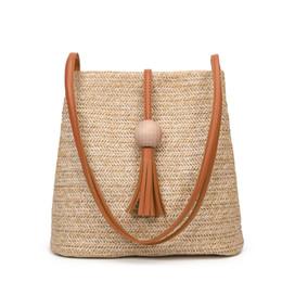 $enCountryForm.capitalKeyWord UK - IVOTKOVA Fashion Women Straw Shoulder Bags Tassel Beach Female Handbags 2019 New Summer Purses Girl Lady Tote