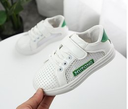 small elastic bands 2019 - Summer 2018 new hollow small white shoes for boys and girls Korean version of breathable hollow board shoes cheap small