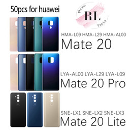 $enCountryForm.capitalKeyWord Australia - 50PCS for Huawei Mate 20 20 Lite Battery Cover Glass Panel Back Door Housing for Huawei Mate 20 Pro Matte Battery Cover Replace