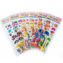 Ingrosso diario decorativo 5 PCS / LOT Animal Bubble Diary Decorativo Cartoon Phone Bubble Stickers Cute Animal Kingdom WYQ