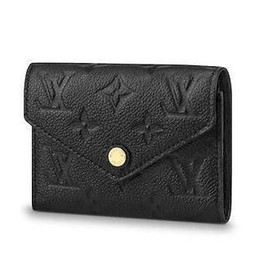 $enCountryForm.capitalKeyWord UK - 2019 M64060 Victorine Wallet Embossing Black Real Caviar Lambskin Chain Flap Bag Long Chain Wallets Key Card Holders Purse Clutches Evening
