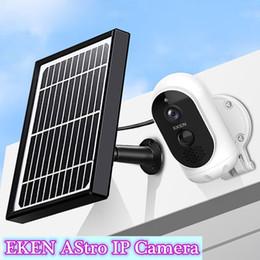 1080P Full HD EKEN ASTRO Cámara IP con panel solar IP65 Detección de movimiento a prueba de intemperie 6000mAh Cámara de seguridad de la batería con detección de movimiento en venta