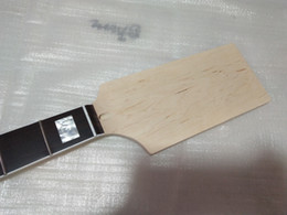 Bass frets online shopping - 1pcs Unfinished paddle head bass style guitar neck maple fret rosewood fingerboard