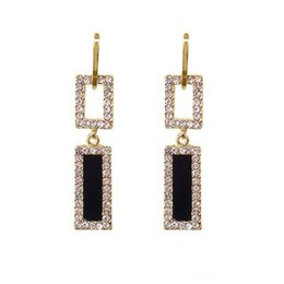 $enCountryForm.capitalKeyWord UK - s925 Silver Pins Long Flash Rhinestone Ear Drop Personalized Rectangular Geometry Earrings Luxury Design Ear Stud 2 Models Women Jewelry
