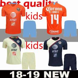 7b0310a64 18 19 LIGA MX Club America third kids kit soccer Jerseys 2018 2019 Club  America orange child soccer Jerseys Custom sales