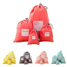 $enCountryForm.capitalKeyWord Australia - Hot Sell travel storage waterproof hanging bag underwear clothing shoes beam drawstring bag sundries bag set of 4 ST473