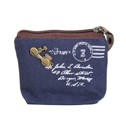 wholesale plain purses Australia - Fashion Women Coin Purse Girls Canvas Wallets Coin Change Purses Zip Key Pouch Bag Factory Price