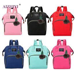 Опт Сплошной цвет мама пеленки сумка большой емкости детские пеленки сумка дизайнер кормящих дам мода путешествия рюкзак по уходу за ребенком