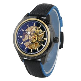 $enCountryForm.capitalKeyWord Australia - Delicate Hollow Out Automatic Mechanical Watches Men Premium Waterproof Wristwatch Soft Genuine Leather Band Watch for Male