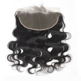 body wave middle part lace closure NZ - A Brazilian Virgin Human Hair Lace Frontal Closures Body Wave Lace Frontals 13*6 1B Middle Part Soft Cheap Remy Lace Frontals Hair 8&qu