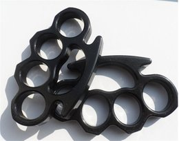 Chinese  NEW steel Brass Knuckles Fighting Knuckle Duster Powerful Self Defense Knuckles Mens Self-Defense fox too self-defense Pendant Bottle Opener manufacturers