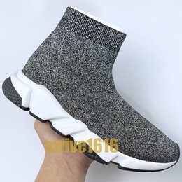casual girl shoes Australia - Luxury Speed Trainer High Sock Fashion Shoes 2019 Girls Best Quality black white blue Men Women Casual Shoes designer sneakers eur 36-45