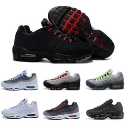neon shoes for women 2019 - Good Quality 95 95s Shoes Black White Red Yellow Neon Greedy Running Shoes for Men Designer Trainers Sports Women Sneake