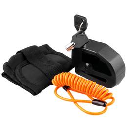security reminder 2019 - Waterproof Motorcycle Alarm Lock Bike Lock Security Anti-Theft Moto Disc Brake + Bag + Reminder Rope cheap security remi