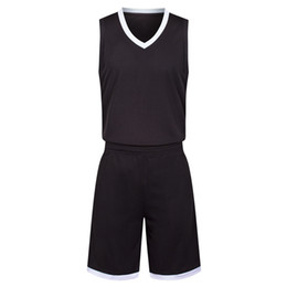 Chinese  2019 New Blank Basketball jerseys printed logo Mens size S-XXL cheap price fast shipping good quality Black White BW004 manufacturers