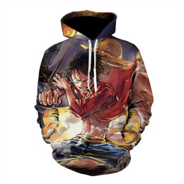 clothing sizes japan 2019 - New Funny Japan Anime One Piece Monkey D Luffy Hoodies 3D Print Clothing Women Men Unisex Funny 3D Hoodies Casual Pullov