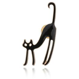 $enCountryForm.capitalKeyWord Australia - Real Shooting New Hot Sale Fashion 3 Colors Cute Cat Animal Brooches For Women Collar Pin Metal Korean Jewelry b172