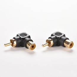 $enCountryForm.capitalKeyWord Australia - 1PC Black 90 Degree Right Angle RCA Male to Female M F Connector Adapter Audio AV Plug Converter