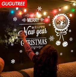 $enCountryForm.capitalKeyWord NZ - Decorate Home merry christmas new year art wall sticker decoration Decals mural painting Removable Decor Wallpaper G-1292
