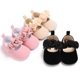 Girls Pre Walker Shoes Australia - Newborn Baby Toddler Girl Crib Shoes Pram Soft Sole Pre-walker Anti-slip Sneakers Adorable Baby Girls Flowers Soft Walking Shoes