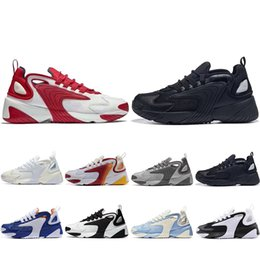cheaper running shoes Canada - Cheaper New M2k Tekno Zoom 2K ZM 2000 Running Shoes For Men Women Black White Blue Orange Mens Trainers fashion Sneakers US 5-11