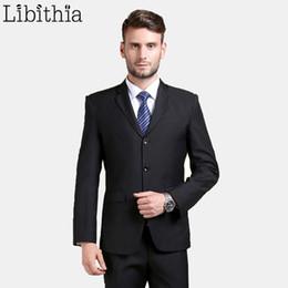 $enCountryForm.capitalKeyWord Australia - (jackets+pants) New Arrival Work Men Suit Superior Three Buttons Slim Fit Tuxedo Brand Fashion Dress Costume Wedding Blazer B067 C190416