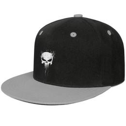 Cool Skull Caps For Men Australia - 3d punisher skull Unisex Men Hat Woman's Caps Cool Cotton Snapback Flatbrim Sun Hats Ball Cap for Men
