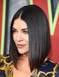 Glueless Lace Celebrity Wigs Australia - celebrity bob hairsty silk straighjt Glueless Lace front medium long Bob Wigs360 Lace Frontal Wigs Bob Human Hair Lace Front Wigs