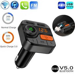 Discount wireless charging phones - For Wireless 5.0 Car Transmitter Bluetooth FM Modulator Phone Charge TF MP3 Player