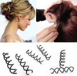Clip Hair Black Australia - Hot Sale and Brand New Hair Accessories Women Spiral Spin Screw Bobby Pin Hair Clip Ladies Twist Barrette Black