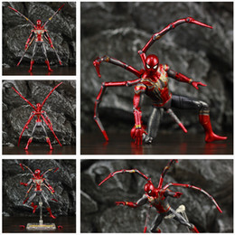"Chinese  Marvel Avengers 4 Endgame Iron Spider Man 6"" Action Figure Infinity War Tom Holland Spiderman Legends Doll Toys Children Kid Gif manufacturers"