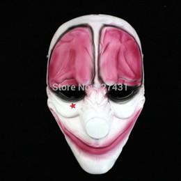 $enCountryForm.capitalKeyWord UK - Wholesale-unisex PAYDAY Hoxton MASK Heist joker clown Fancy Dress proms Cosplay Costume prop Accessory Creepy Circus Halloween Masquerade