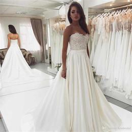 $enCountryForm.capitalKeyWord Australia - Strapless Sleeveless Wedding Dresses 2019 robe de mariee Bead Appliques Lace up tie Wedding Dress Bridal Gowns Cheap vestidos de noiva