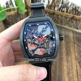 $enCountryForm.capitalKeyWord Australia - Top MEN'S COLLECTION Vanguard Luminous fiber case V 45 T GR CS SQT BR Automatic Mens Watch Hollow dial 44mm Gents sport Watches