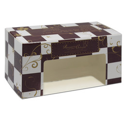 $enCountryForm.capitalKeyWord Australia - 50pcs 13.5*7*6cm Food Gift Packaging Box Novel Chocolate Blocks Style Design With Window For Cake Toy Model Gift Package Carton free shippin