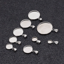$enCountryForm.capitalKeyWord Australia - 10pcs lot Stainless Steel Blank Pendant Base Settings 6-30mm Round Cabochon Bezel Necklace Trays For DIY Jewelry Making Gift