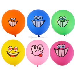 $enCountryForm.capitalKeyWord UK - 12 inch 2.8g Cute Printed Big Eyes Smiley Latex Balloons Happy Birthday Party Decoration Inflatable Air Ballons Balls for Kids Gift
