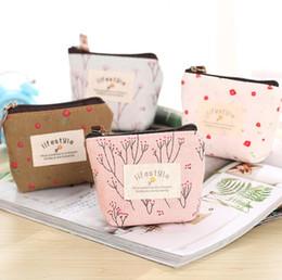 $enCountryForm.capitalKeyWord Australia - Fashion Hot Female Mini Sexy Housekeeper Cute Key Box Rural Flower Canvas Key Bag Small Gift Bag Handbag