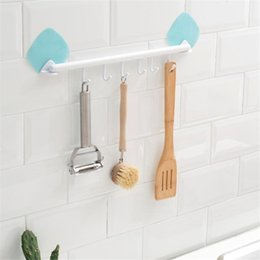 Wholesale Multi function Hooks Wall Hook Strong Suction Cup Sucker Hanger Kitchen Bathroom Adhesive Towel Holds Cabinets Storage
