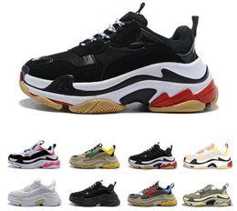 $enCountryForm.capitalKeyWord NZ - leather shoes quality Fashion Men's and women's lSneaker Triple S Casual nvDad Shoes for Men's Women Beige Black Sports Tennis Shoe 35-45