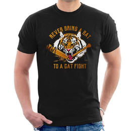 $enCountryForm.capitalKeyWord Australia - NEVER BRING A BAT TO A CAT FIGHT T-SHIRT TWD Walking Dead Shiva Negan Spoof Cool Casual pride t shirt men Unisex New Fashion