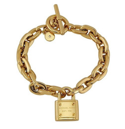 $enCountryForm.capitalKeyWord Australia - Women's Lock Bracelets 925 Sterling Silver Gold Plated Pendants Charm Bracelets Bangle Jewelry For Men Women B006