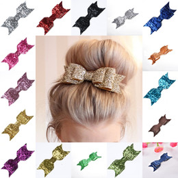 $enCountryForm.capitalKeyWord Australia - 3.54Inch Boutique Sequin Big Bow Hair Clips Barrette Headbands for Baby Girls Women Hairpin with Alligator Clip Hair Accessories Gift M042F