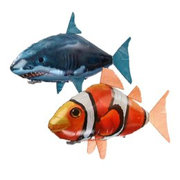 flying fish balloon UK - Shark Toys Air Swimming Fish Flying Air Balloons Clown Fish Kid Toys Gifts Party Decoration Drop ship.#JIN